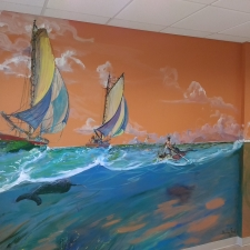 Buckley Smith mural Windsor Reflections art room wall