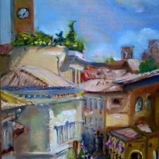 Buckley Smith•Orvieto Corso•12x16•oil