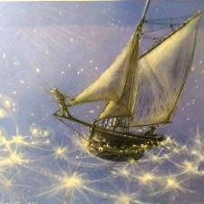 Commissn Gathering Stars.18x22 blue. 8.29.18