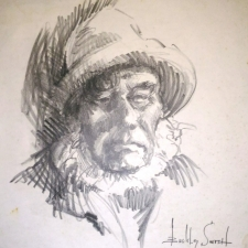 Old fisherman. 17x 16. Charcoal. 80...sold 8.31.19