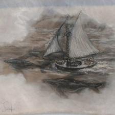 Sailing in a cloud. 16x21. 180.