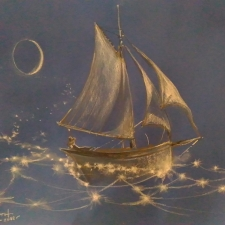 Buckley Smith. Sailing the Star Sea. 20x26