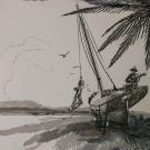 Swingin n singin. 20x23. Pen, ink, wash on matboard.400