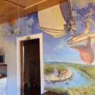 8ft x 10ft kitchen wall mural~ oil on wood.Fernandina Beach FL. Feb 2017
