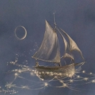 Buckley smith Sailing the Star Sea. 20x26. Chalk