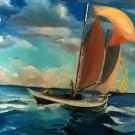 Pinky Schooner.oil. 16x24.450.