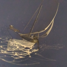 Starry Breeze. 20x25. Charcoal, pen, ink. 400