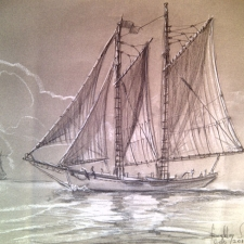 schooner_ameaglechalk